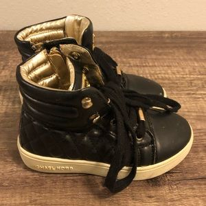 Michael Kors Ivy Cora Black Quilted High Tops